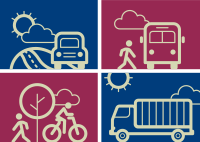 A Complete Transportation System icon graphic