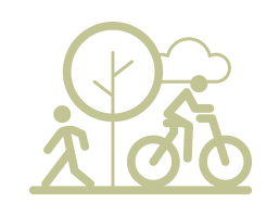 bike and pedestrian icon